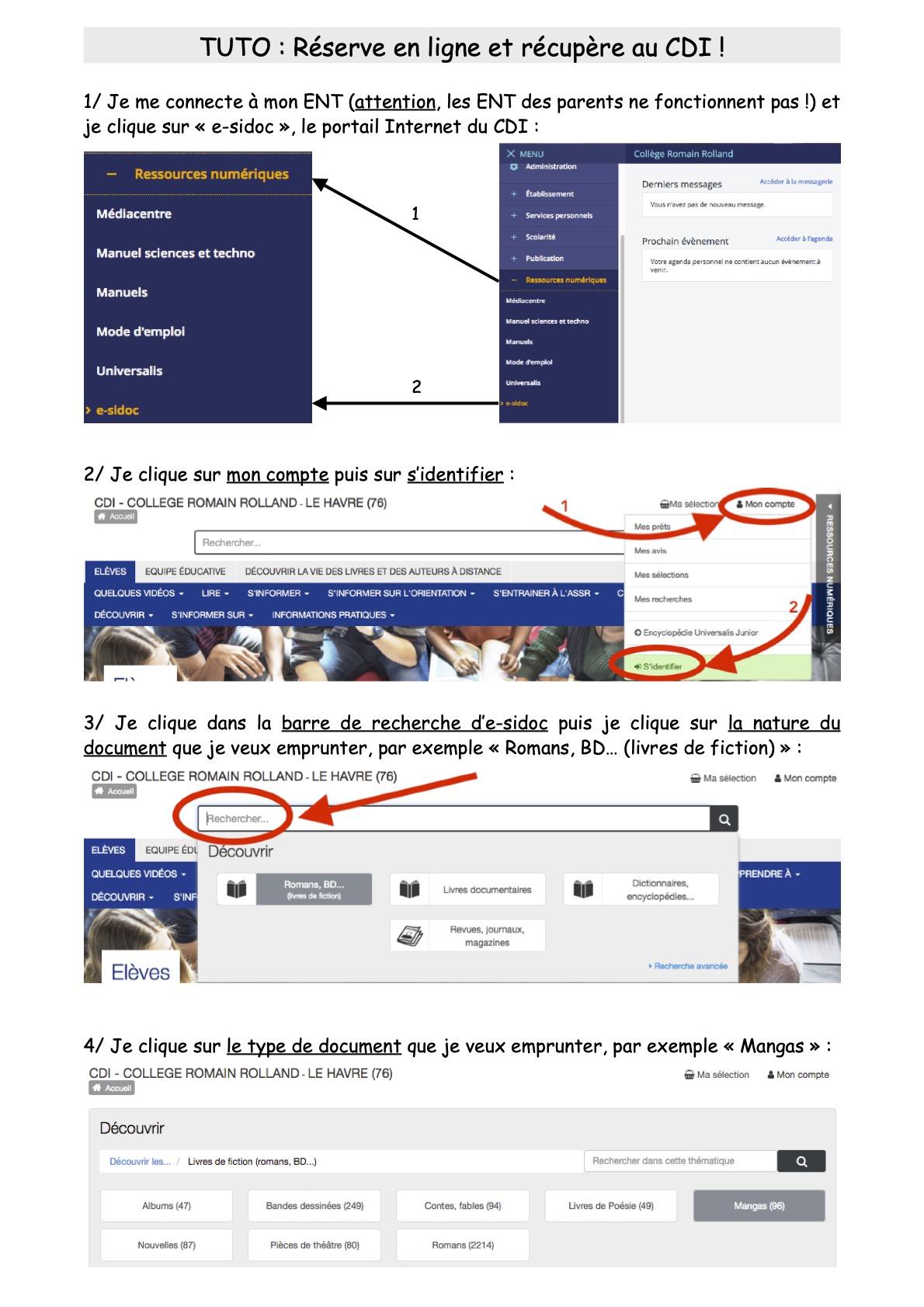 Tuto Clique & Collecte page 1/2